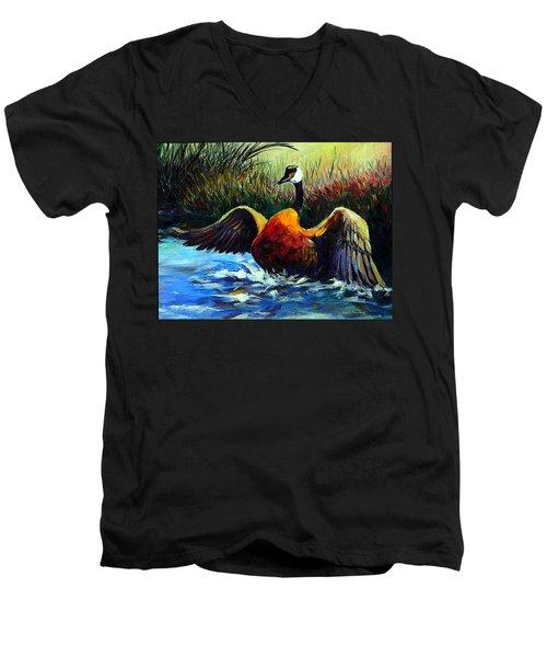 Splash Dance Men's V-Neck T-Shirt