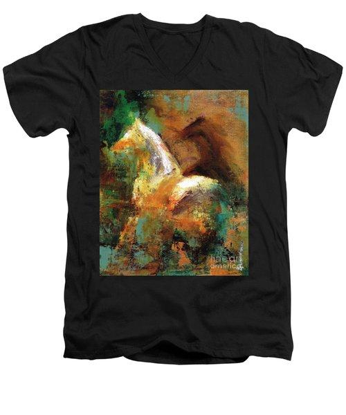 Splash Of White Men's V-Neck T-Shirt