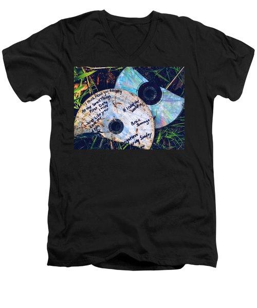 Split Men's V-Neck T-Shirt by Colleen Williams