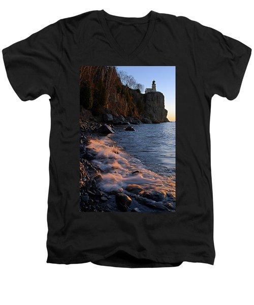 Split Rock Lighthouse At Dawn Men's V-Neck T-Shirt