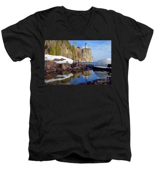 Split Rock Reflections Men's V-Neck T-Shirt