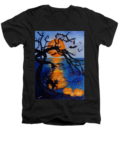 Spooky Hollow - Painting Men's V-Neck T-Shirt