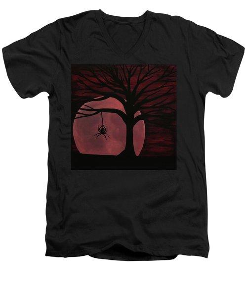 Spooky Spider Tree Men's V-Neck T-Shirt