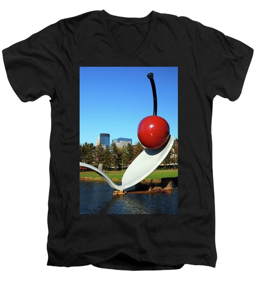 Spoonbridge Men's V-Neck T-Shirt by James Kirkikis