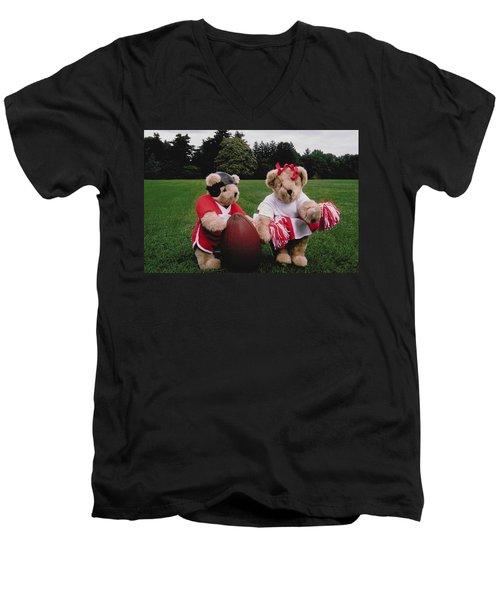 Sporty Teddy Bears Men's V-Neck T-Shirt