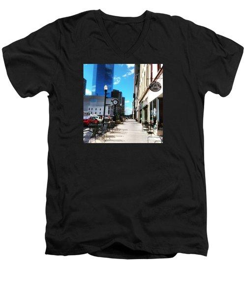 Spring Day In Downtown Lexington, Ky Men's V-Neck T-Shirt