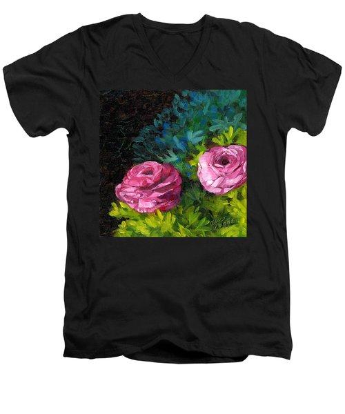 Spring Dewdrops Men's V-Neck T-Shirt by Alice Leggett