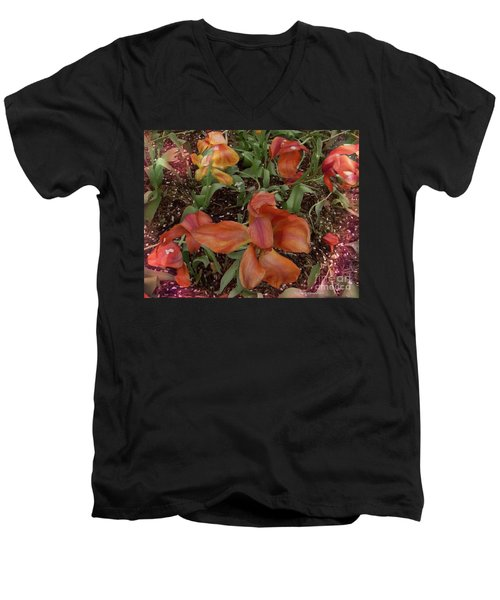 Men's V-Neck T-Shirt featuring the photograph Spring Fever by Kathie Chicoine