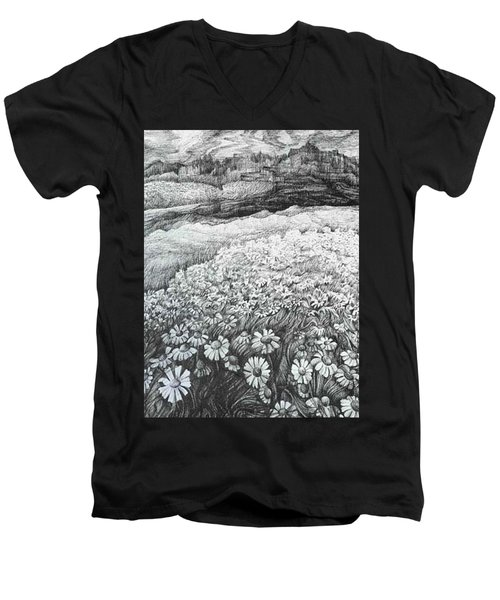 Spring Flowers Men's V-Neck T-Shirt by Anna  Duyunova