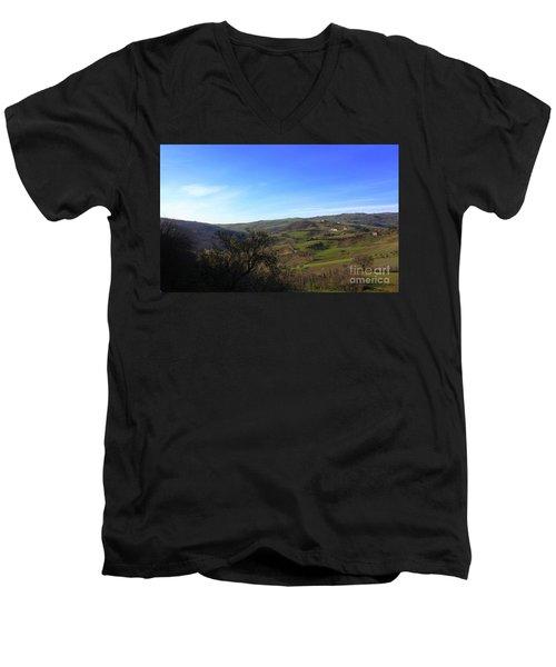 Spring In Casacalenda Men's V-Neck T-Shirt