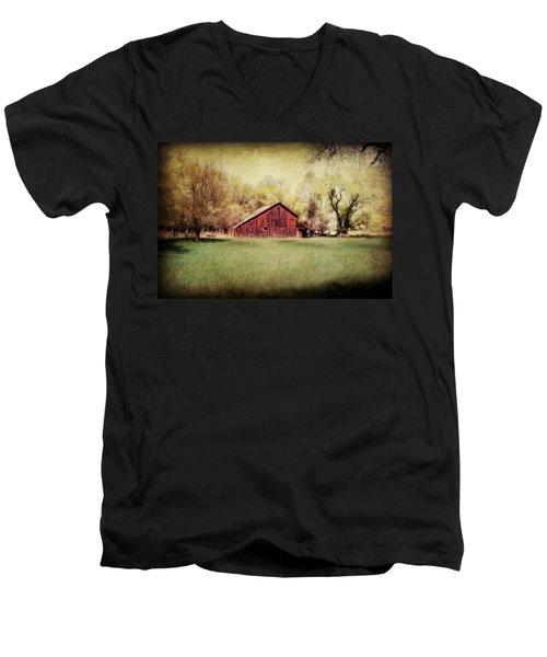Spring In Nebraska Men's V-Neck T-Shirt by Julie Hamilton