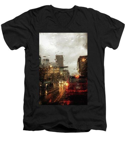 Spring In The City Men's V-Neck T-Shirt
