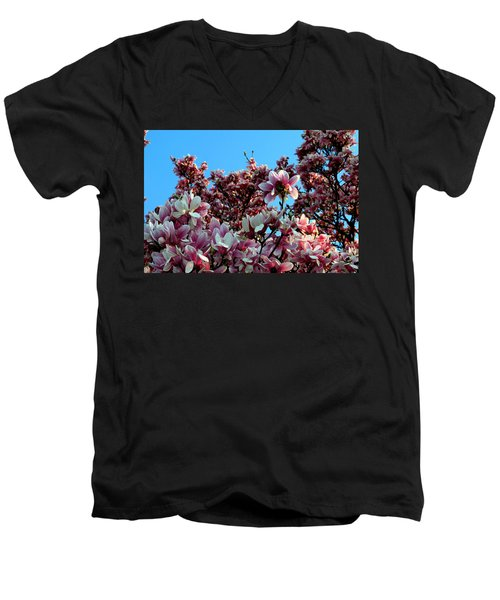 Men's V-Neck T-Shirt featuring the photograph Spring Is Here by Dorin Adrian Berbier