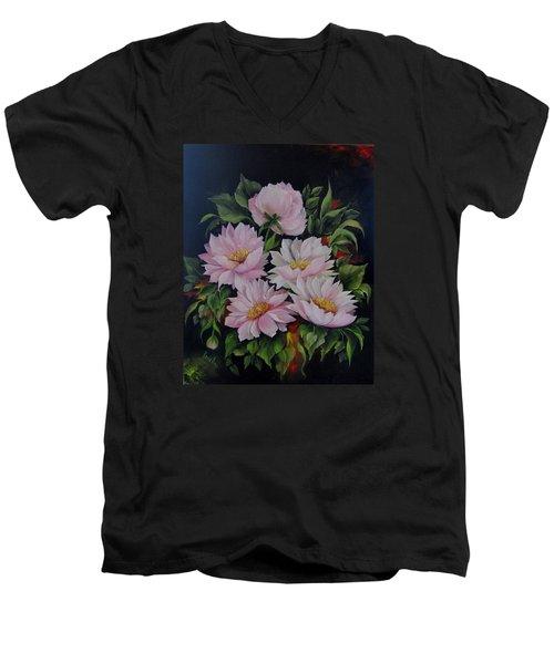 Spring Messangers Men's V-Neck T-Shirt by Katia Aho