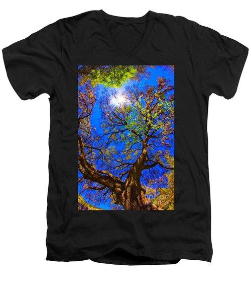 Spring Oak Men's V-Neck T-Shirt