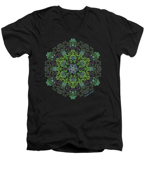 Spring Spiral Men's V-Neck T-Shirt