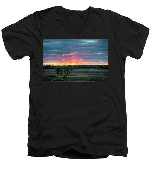 Spring Sunset Men's V-Neck T-Shirt