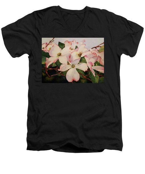 Springtime Dogwood Men's V-Neck T-Shirt