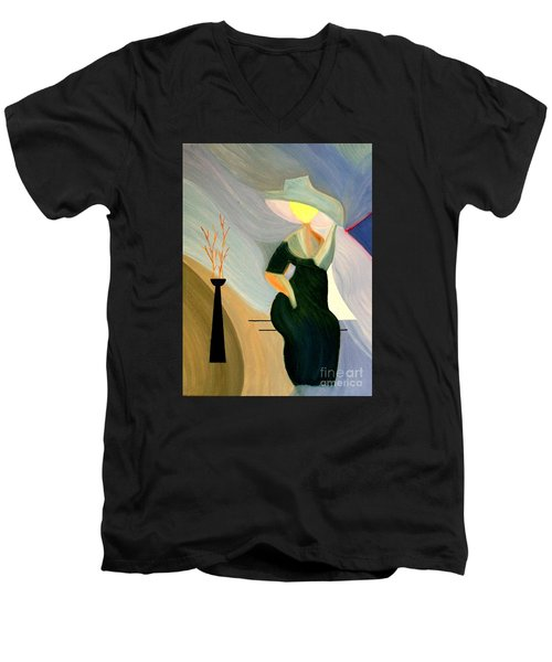 Springtime In Paris Men's V-Neck T-Shirt by Bill OConnor