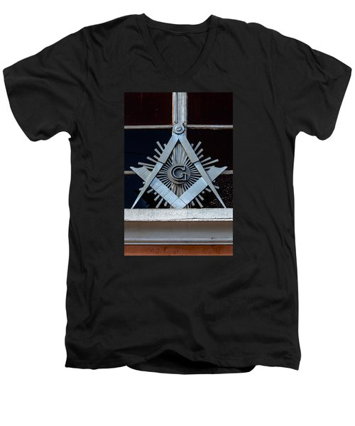 Square And Compass Men's V-Neck T-Shirt