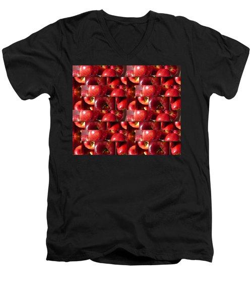 Square Apples Men's V-Neck T-Shirt by Tina M Wenger