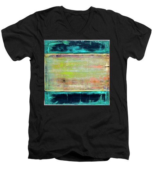 Art Print Square3 Men's V-Neck T-Shirt