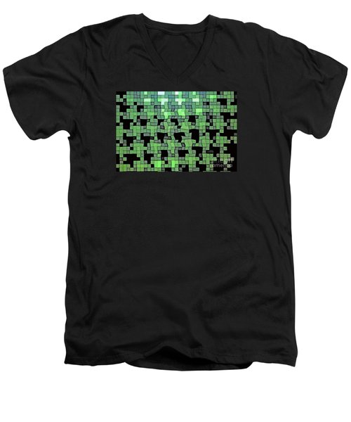 Men's V-Neck T-Shirt featuring the photograph Squares by Juls Adams