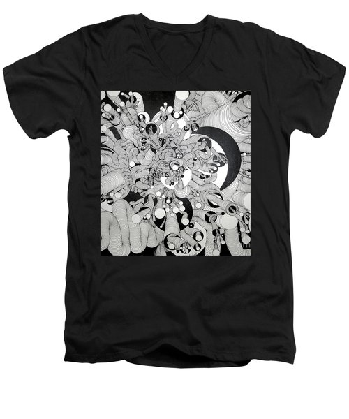 Squiggle Art By Amy Men's V-Neck T-Shirt