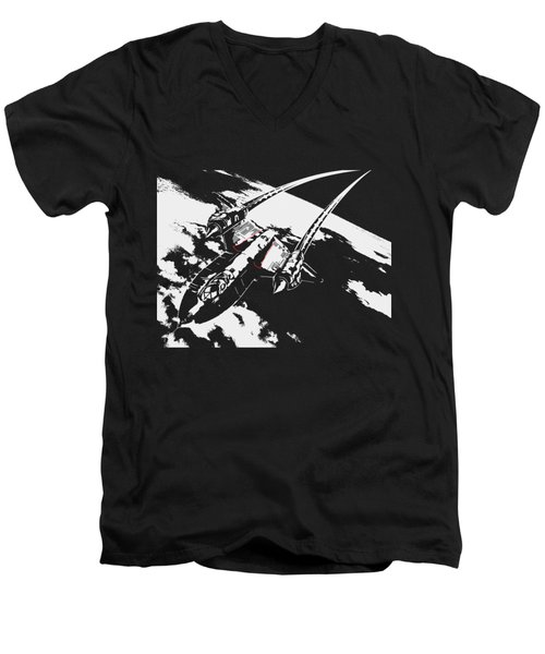 Sr-71 Flying High Men's V-Neck T-Shirt