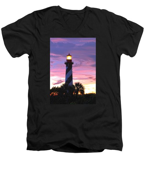 St. Augustine Light Men's V-Neck T-Shirt by Robert Och