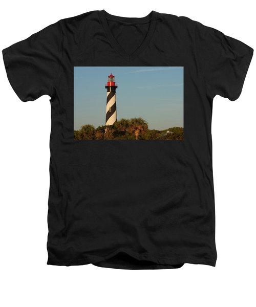 St. Augustine Lighthouse #3 Men's V-Neck T-Shirt