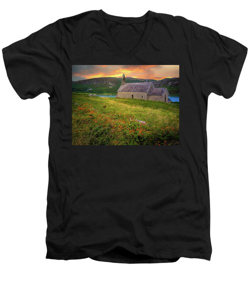 St. Brendan The Navigator Church Of Ireland In Crookhaven Men's V-Neck T-Shirt