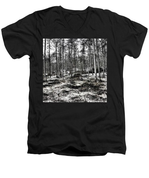 St Lawrence's Wood, Hartshill Hayes Men's V-Neck T-Shirt by John Edwards