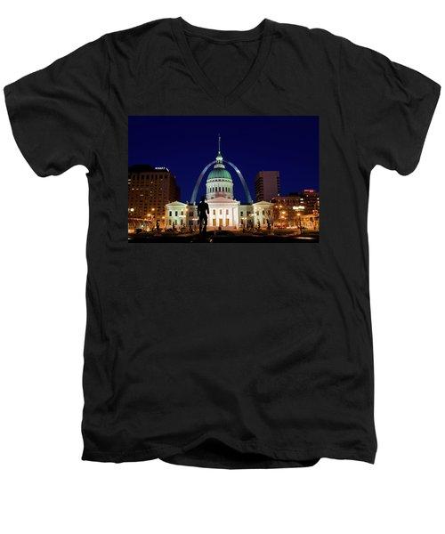 St. Louis Men's V-Neck T-Shirt