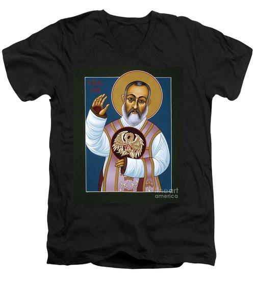 St Padre Pio Mother Pelican 047 Men's V-Neck T-Shirt