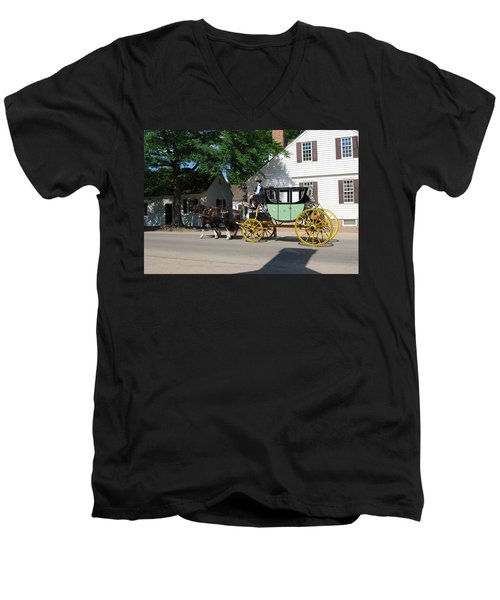 Stage Coach Men's V-Neck T-Shirt by Eric Liller