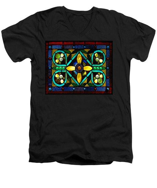 Stained Glass 1 Men's V-Neck T-Shirt