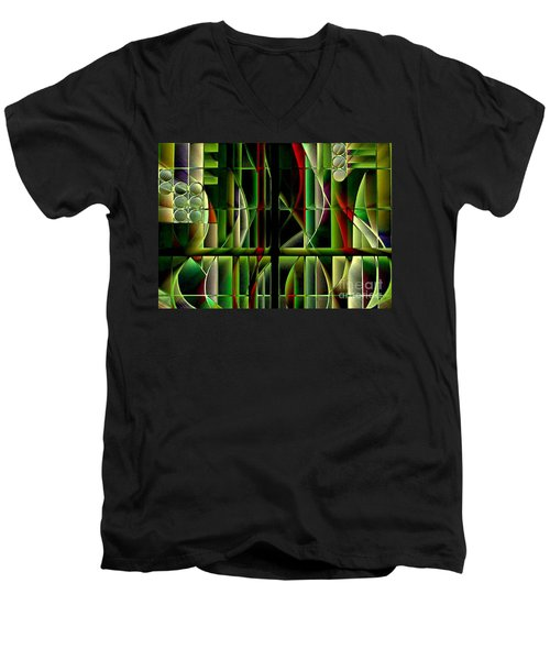 Stained Glass 2 Men's V-Neck T-Shirt
