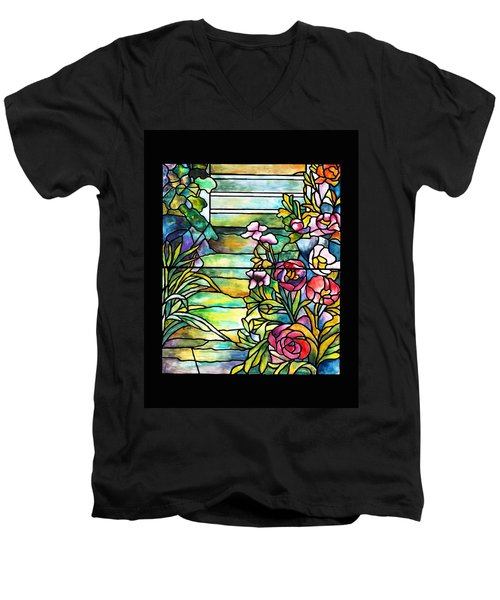 Stained Glass Tiffany Robert Mellon House Men's V-Neck T-Shirt