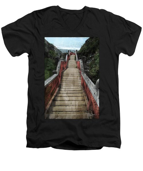 Stairs To Bliss Men's V-Neck T-Shirt