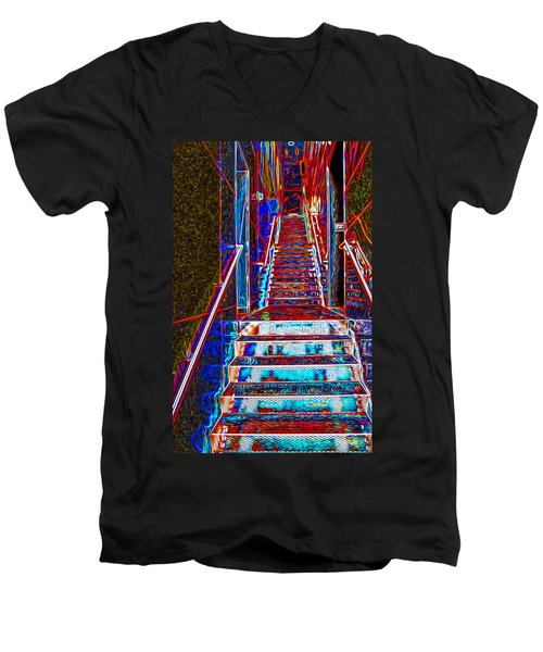 Stairway To Bliss Men's V-Neck T-Shirt by Phil Cardamone