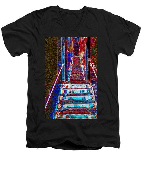 Stairway To Bliss Men's V-Neck T-Shirt