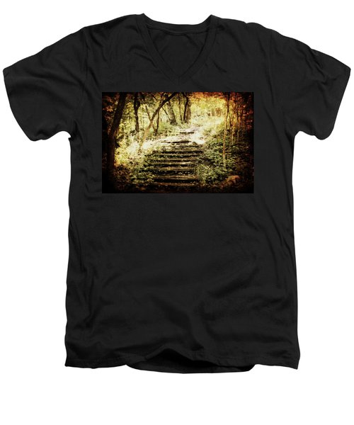 Stairway To Heaven Men's V-Neck T-Shirt by Julie Hamilton