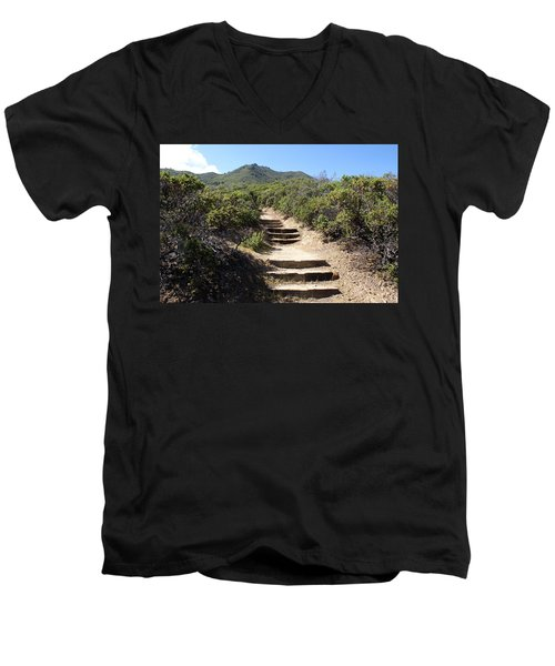 Stairway To Heaven On Mt Tamalpais Men's V-Neck T-Shirt