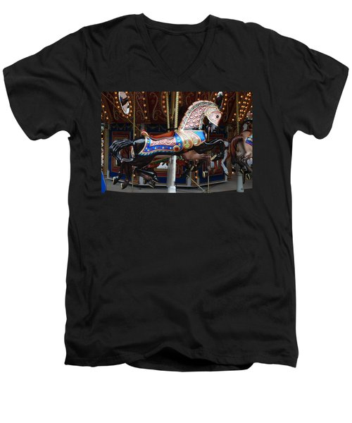 Men's V-Neck T-Shirt featuring the photograph Stallion by Rob Hans