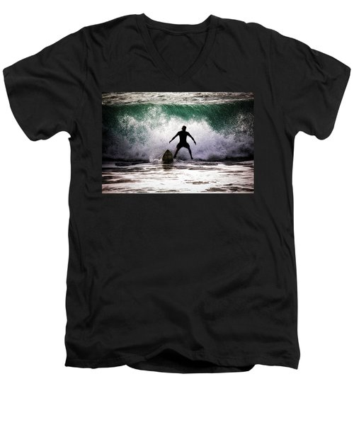 Standby Surfer Men's V-Neck T-Shirt by Jim Albritton