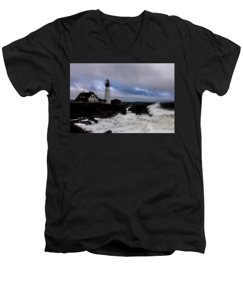 Standing In The Storm Men's V-Neck T-Shirt
