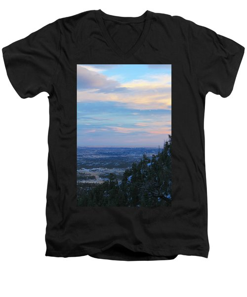 Men's V-Neck T-Shirt featuring the photograph Stanley Canyon Hike by Christin Brodie