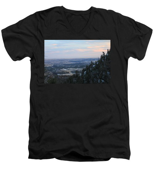 Men's V-Neck T-Shirt featuring the photograph Stanley Canyon View by Christin Brodie