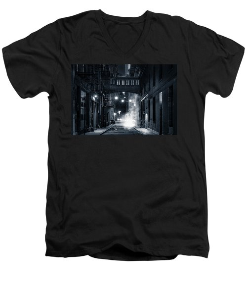 Staple Street Skybridge By Night Men's V-Neck T-Shirt